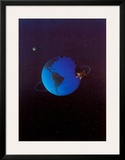 Satellite Pig Prints by Michael Sowa