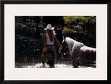 Cowgirl n' Horse Art by David R. Stoecklein
