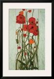 Poppy Garden Framed Giclee Print by Karen Tusinski