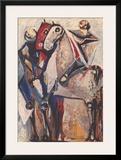 Zwei Reiter Print by Marino Marini