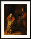 Return of the Prodigal Son, c. 1669 Art by  Rembrandt van Rjin