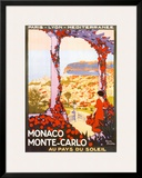 Monte Carlo, Monaco Print by Roger Broders