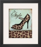 Giraffe Shoe Poster by Todd Williams