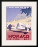 Monaco Grand Prix, 1935 Framed Giclee Print by Geo Ham