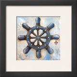 Nautical Wheel Prints by Gina Ritter