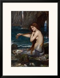 A Mermaid, 1900 Prints by John William Waterhouse