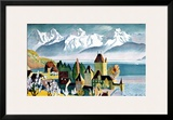 Lake Thunersee, Alpine Resort Framed Giclee Print