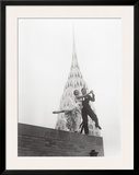 Dancing by Chrysler Building Posters