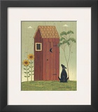 Outhouse with Dog Posters by Warren Kimble