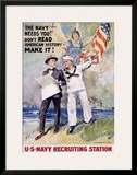 The Navy Needs You! Framed Giclee Print