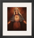 Mary's Immaculate Heart Prints by T. C. Chiu