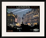 Piccadilly Circus, LNER poster, 1923-1947 Framed Giclee Print by Fred Taylor