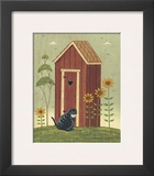 Outhouse with Cat Art by Warren Kimble