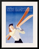 New Hampshire Framed Giclee Print by  Hechenberger