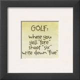 Golf Prints by Karen Tribett