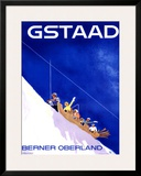 Gstaad, Berner Oberland Framed Giclee Print by Alex W. Diggelmann