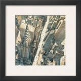 Aerial View of Chrysler Building Posters by Matthew Daniels