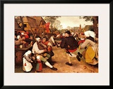 Peasant's Dance Prints by Pieter Bruegel the Elder