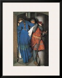 Meeting on the Turret Stairs Framed Giclee Print by Frederick William Burton