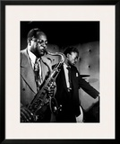 Coleman Hawkins and Miles Davis Poster by William P. Gottlieb