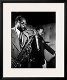 Coleman Hawkins and Miles Davis Poster by William P. Gottlieb