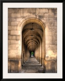 Archway through Manchester, England Print by Robin Whalley