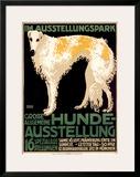 Hunde Ausstellung Framed Giclee Print by Julius Edmond Robert Nitsche