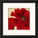 Red Peony I Prints by Linda Wood