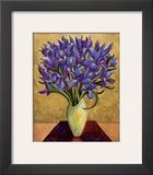 Blue Iris Bouquet Prints by Shelly Bartek