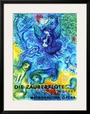 The Magic Flute Framed Giclee Print by Marc Chagall