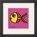 Swimmingly Pink Posters by Romero Britto
