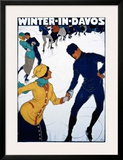 Winter in Davos Poster by Burkhard Mangold