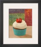 Cherry Cupcake I Posters by Vivien Rhyan