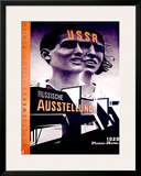 Russiche Ausstellung Framed Giclee Print by El Lissitzky