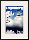 Engelberg Ski Framed Giclee Print
