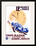 12 Heures de Paris, Coupe Olazur Framed Giclee Print by Geo Ham
