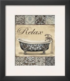 Relax Bath Prints by Todd Williams