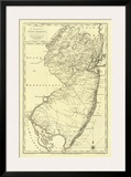 State of New Jersey, c.1795 Prints by Mathew Carey