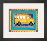 School Bus Prints by Alison Jerry
