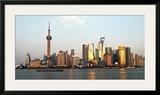 Shanghai Skyline Posters by Xiaoyang Liu