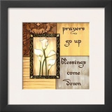 Golden Reflection, Prayers Go Up Print by Debbie DeWitt