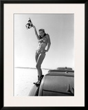 Pin-Up Girl: Bonneville el Mirage Framed Giclee Print by David Perry