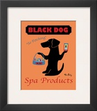 Black Dog Spa Poster by Ken Bailey