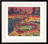 Landschaft im Herbst Prints by Karl Schmidt-Rottluff