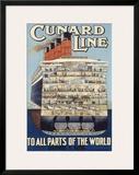 Cunard Line Framed Giclee Print