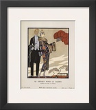 Le Depart Pour Le Casino Print by Georges Barbier