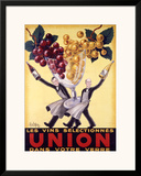 Les Vins Selectionnes Union Framed Giclee Print by  Robys (Robert Wolff)