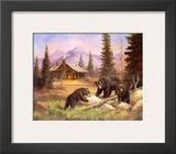 Bears on Log Posters by M. Caroselli
