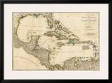 Complete Map of the West Indies, c.1776 Posters by Robert Sayer