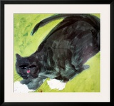Evening Cat Print by Walasse Ting
